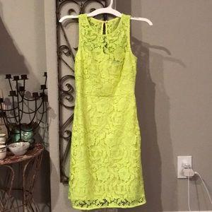 J. Crew size 0 Neon Yellow Lace Dress